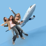 Flying girls Stock Photography
