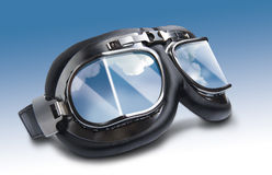 Flying goggles. For a pilot stock images