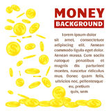 Flying gold coins isolated on white background vector illustration