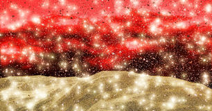 Falling gold dust. Gold dust settling down into a large pile Stock Photo