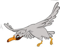 Flying goose. Cartoon Stock Images