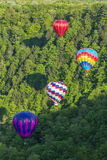 Flying The Gorge At Letchworth State Park. Hot Air Balloons Flying In The Gorge At Letchworth State Park In New York Royalty Free Stock Photo