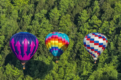 Flying The Gorge At Letchworth State Park. Hot Air Balloons Flying In The Gorge At Letchworth State Park In New York Stock Photo