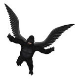 Flying Gorilla Isolated Illustration Stock Photography