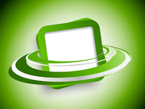 Flying green squares Royalty Free Stock Photos