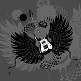 Flying Guitar Royalty Free Stock Images