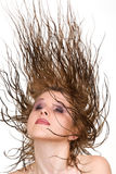 Flying hair Royalty Free Stock Photos