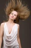Flying hair Stock Image