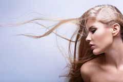 Flying hair Stock Images