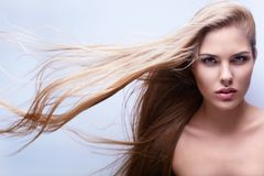 Flying hair Royalty Free Stock Photo