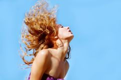 Flying hair Royalty Free Stock Photography