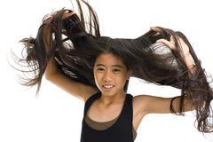 Flying hair Royalty Free Stock Image
