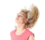 Flying hair Royalty Free Stock Images