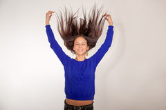 Flying hairs Stock Photos
