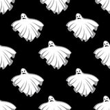 Flying Halloween ghosts seamless pattern Royalty Free Stock Images