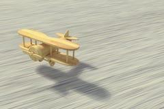 Flying handmade airplane Stock Photo