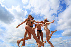 Flying happiness Stock Photos
