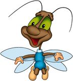 Flying happy bug Stock Images