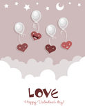 Flying Happy Smiling Hearts Royalty Free Stock Photo