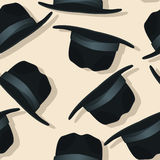 Flying hats pattern Royalty Free Stock Photo