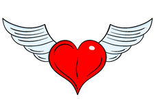 Flying heart Stock Photo
