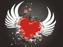 Flying heart Stock Photography