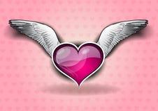 Flying heart Stock Photography