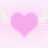 Flying Heart. Flying pink heart on background Stock Photography