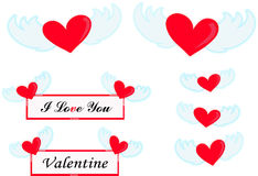 Flying Heart Stock Image