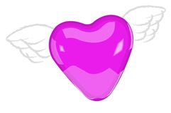 Flying heart Stock Images