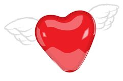 Flying heart Royalty Free Stock Photo