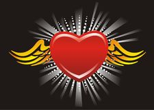 Flying heart Royalty Free Stock Photography