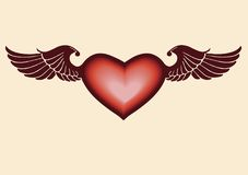Flying heart Royalty Free Stock Photos