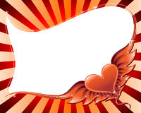 Flying heart background Stock Photography