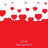 Flying heart background. royalty free illustration