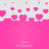 Flying heart background. Love vector illustration. Valentine day royalty free illustration