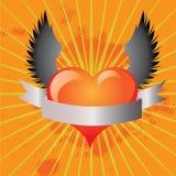 Flying heart Stock Photos