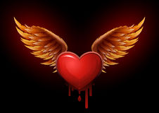 Flying heart Royalty Free Stock Images