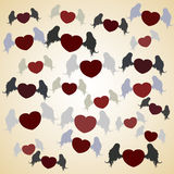 Flying heart with wings. Vector illustration of flying hearts with wings Royalty Free Stock Image