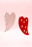 Flying hearts Stock Photo