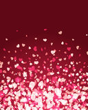 Flying hearts. Valentine's day or Wedding background Royalty Free Stock Photo