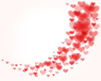 Flying hearts. Valentine's day or Wedding background Royalty Free Stock Images