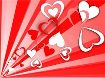 Flying hearts royalty free stock image