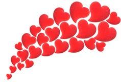 Flying hearts. On white background Stock Photo