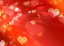 Flying hearts Royalty Free Stock Photography
