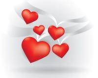Flying Hearts Stock Photos