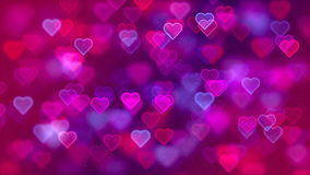 Flying Hearts, Abstract Loopable Background stock video