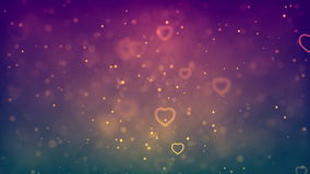 Flying Hearts. Abstract Loopable Background stock video footage