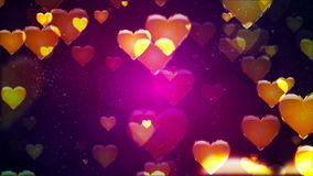 Flying Hearts. Abstract Loopable Background stock video