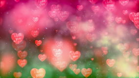 Flying Hearts. Abstract Loopable Background stock footage